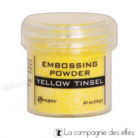 Achat poudre yellow Ranger tinsel