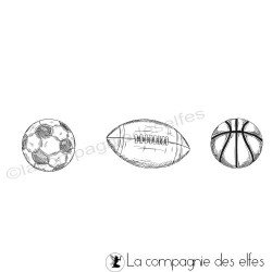 Achat tampon encreur ballons foot rugby basket