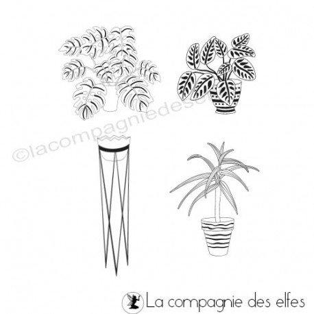2/3 Carte plantes vertes Tampon-encreur-plantes-d-interieur
