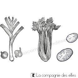 Les légumes de la soupe d'hiver