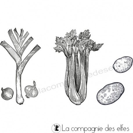 Acheter tampons encreurs légumes d'hiver