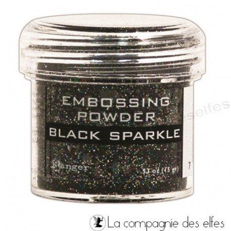 Achat poudre noire sparkle