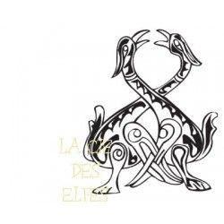 Tampon encreur médiéval | tampon médiéval | tampon oiseaux celtes