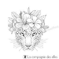 Tampon tête léopard