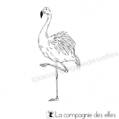 Achat tampon flamant | flamingo stamp