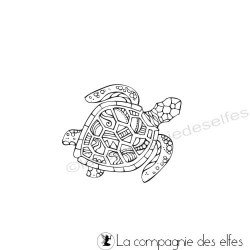 Tampon tortue marine exotique