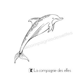Tampon encreur dauphin | dolphin rubberstamp