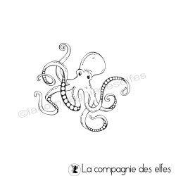 Tampon encreur pieuvre