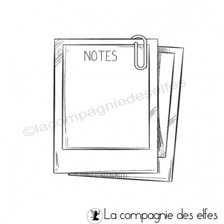 Tampon polaroïd notes