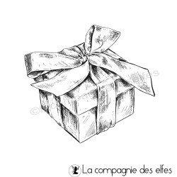 Tampon paquet cadeau mariage