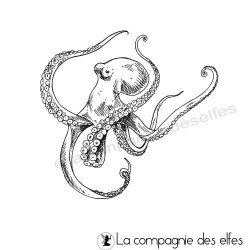 Tampon encreur pieuvre   octopus stamp