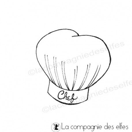 Tampon chapeau chef cuistot