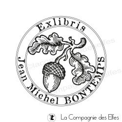 Tampon gravure exlibris botanique