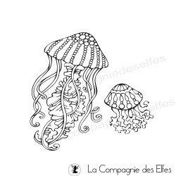 Tampon encreur les meduses   meduses stamp