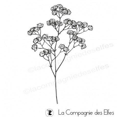 Acheter tampon caoutchouc broom bloom | broom bloom stamp
