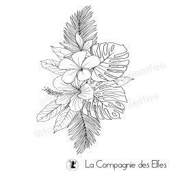 Tampon encreur grand bouquet exotique