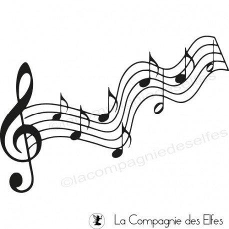 Acheter tampon scrapbooking notes musique