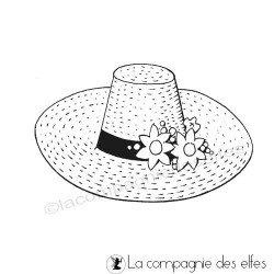 Chapeau de PAILLE tampon nm