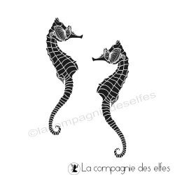 Tampon encreur hippocampes | seahorse stamp