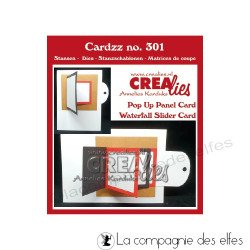 Achat dies Crealies waterfall pop up panel card CLCZ301