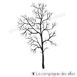 Tampon grand arbre sans feuille | tree rubberstamp