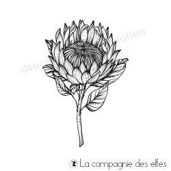 Acheter tampon caoutchouc fleur artichaut
