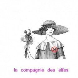 femme vintage - tampon nm