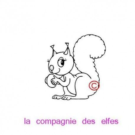 tampon écureuil | squirel stamp