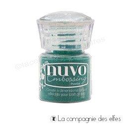 Nuvo embossing powder | achat poudre embosser vert