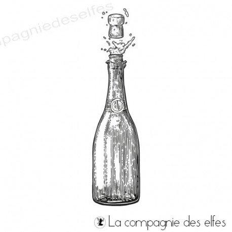 Acheter tampon encreur bouteille de champagne