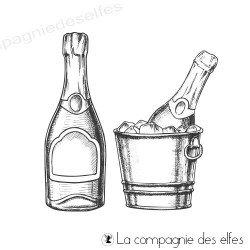 Acheter tampon encreur bouteille et seau à champagne