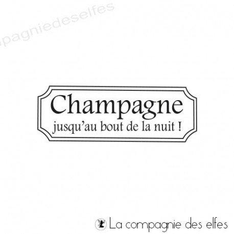 Acheter tampon encreur étiquette champagne