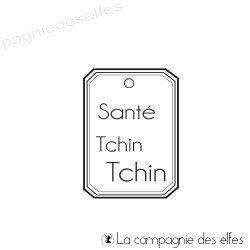Acheter tampon encreur étiquette santé tchin tchin