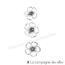 Acheter tampon caoutchouc sakura |sakura little flower stamp