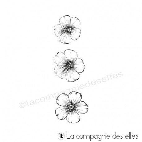 Acheter tampon caoutchouc sakura  sakura little flower stamp