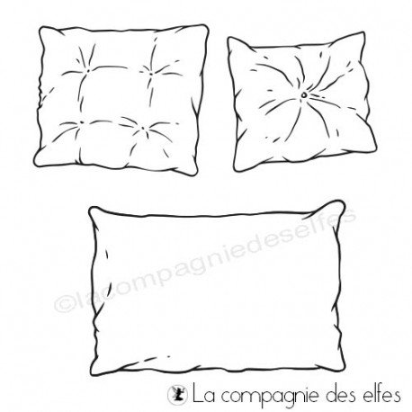 Achat timbre coussins cocooning