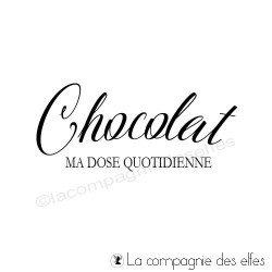 Tampon ma dose de chocolat