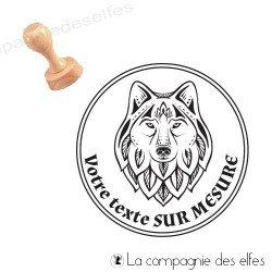 Achat exlibris sur mesure | wolf book stamp
