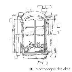 Tampon fenêtre vue sur cour