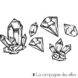 Achat tampon cristaux bijoux | rock crystal stamps