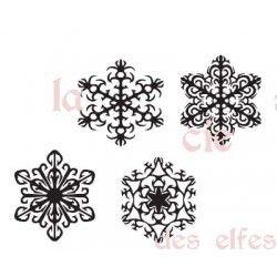 4 tampons étoiles de neige nm