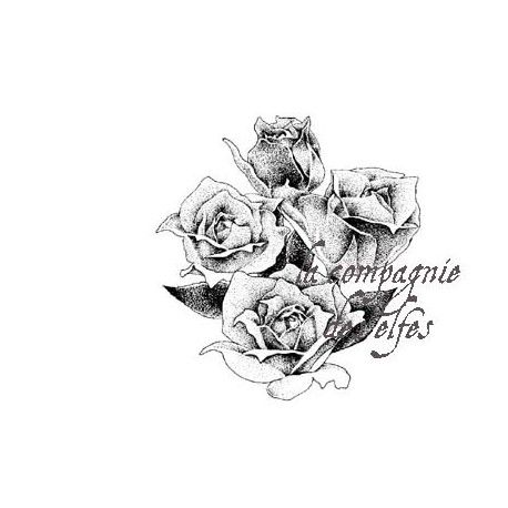 Tampon rose   rose stamp