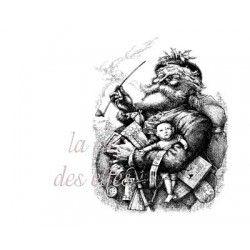 père Noël VINTAGE grand tampon nm