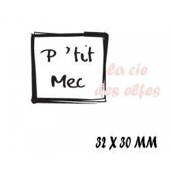 tampon P'tit Mec rectangulaire NM
