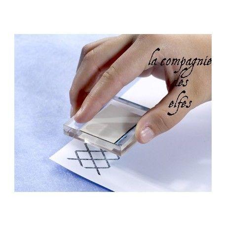 Achat bloc transparent tampon