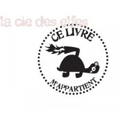 Tampon tortue | tampon marquage livre | tampon ex libris tortue | turtle stamp