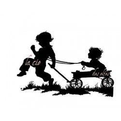 enfants et chariot tampon nm