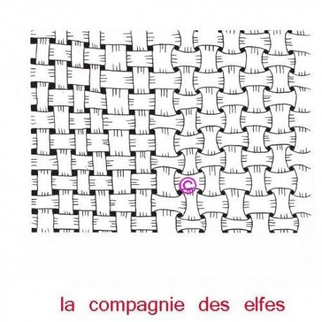 Sketch scrap / carte par Sandrine Fond-noeuds-tissage-tampon-nm