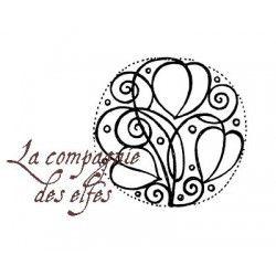 Motif floral coeur Zélie tampon nm