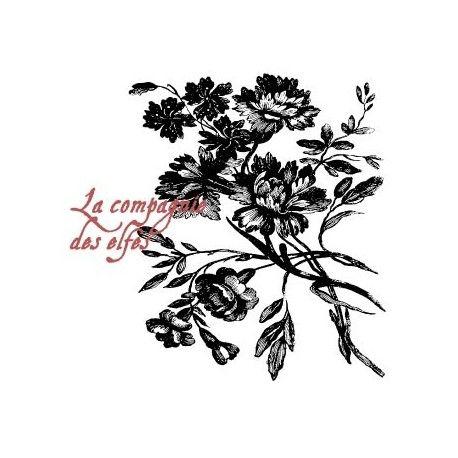 Tampon fleur baroque | baroque rubber stamp | stempelkussen